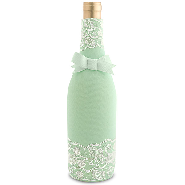 Mint Lace Neoprene Wine Bottle Epicool