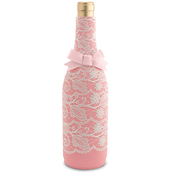 Pink Lace Neoprene Wine Bottle Epicool