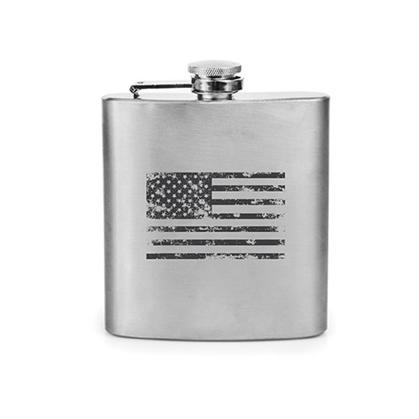 Rustic Flag Flask