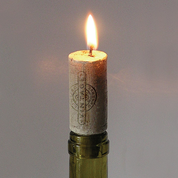 Faux Cork Bottle Candle