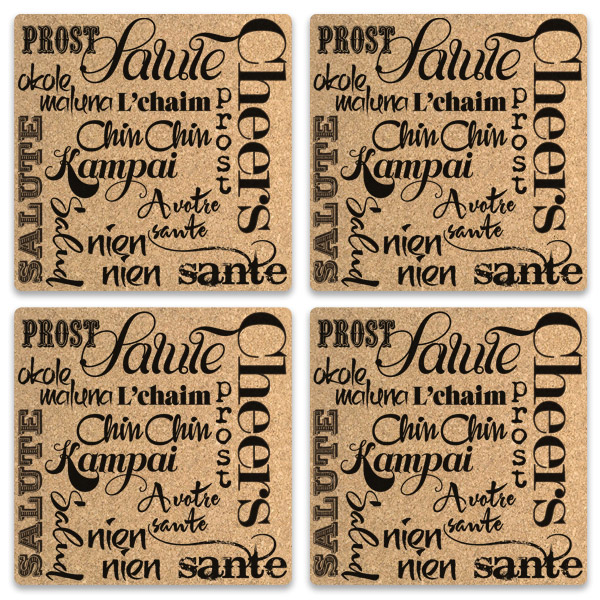 Salutations Cork Coasters