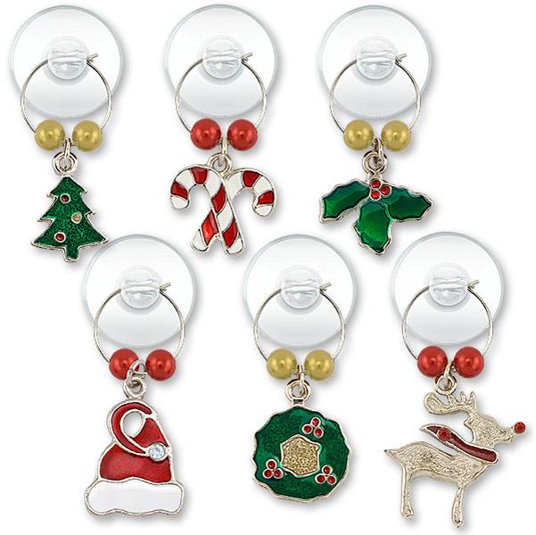 christmas charm suction cup my glass charms - Christmas Charms