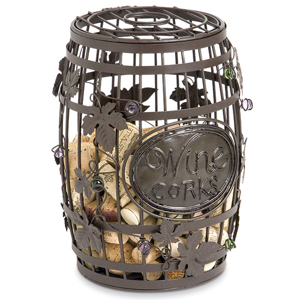 Wine Barrel Cork Cage EVERYTHINGbutWINEcom