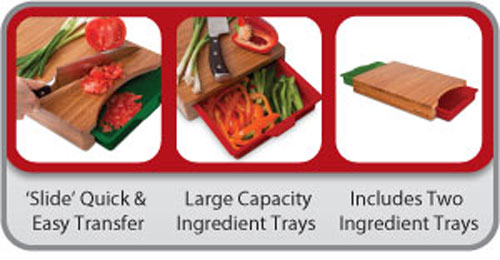 Slicen'Slide Cutting Board by Final Touch